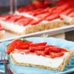 Picture of a no bake strawberry tart