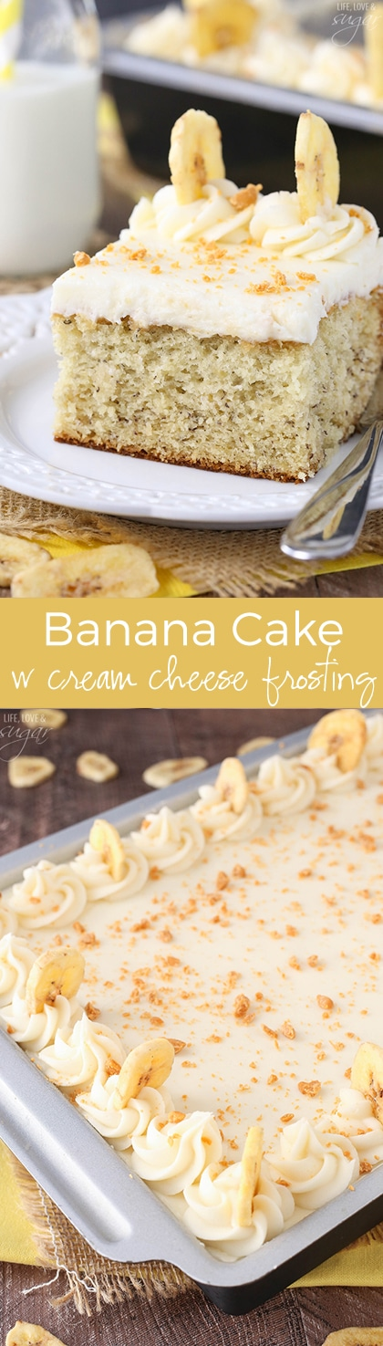 Banana Cake with Cream Cheese Frosting - such a wonderful combination! I love this recipe!