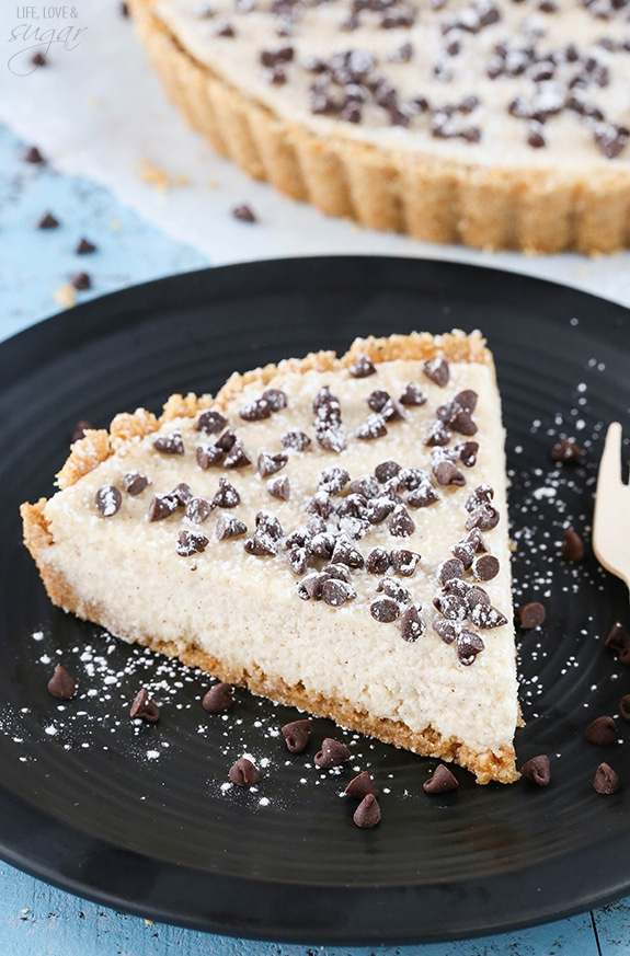 Cannoli Tart - easy to make with all the delicious flavor of a cannoli!