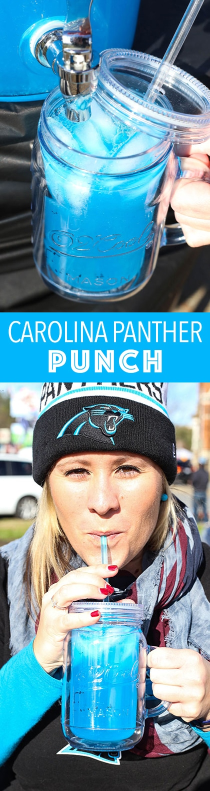 Carolina Panther Punch - the perfect cocktail for the football postseason and hopefully the Super Bowl!