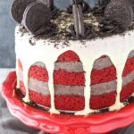 Oreo Cookie Dough Red Velvet Blondie Layer Cake
