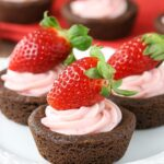 Strawberry Cheesecake Chocolate Cookie Cups