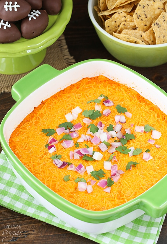 Super Bowl Party! With buffalo chicken dip and more!
