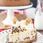 Chocolate Chip Shortbread Cheesecake