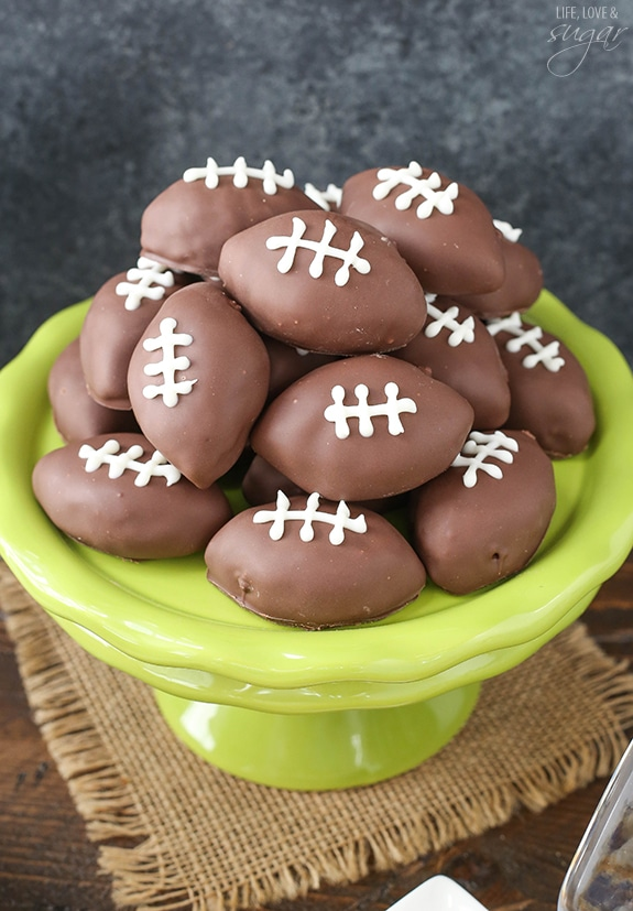 Super Bowl Party! With cookie dough footballs and more!