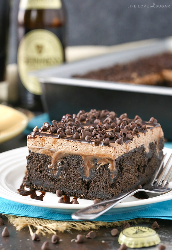 Best Guinness Chocolate Poke Cake