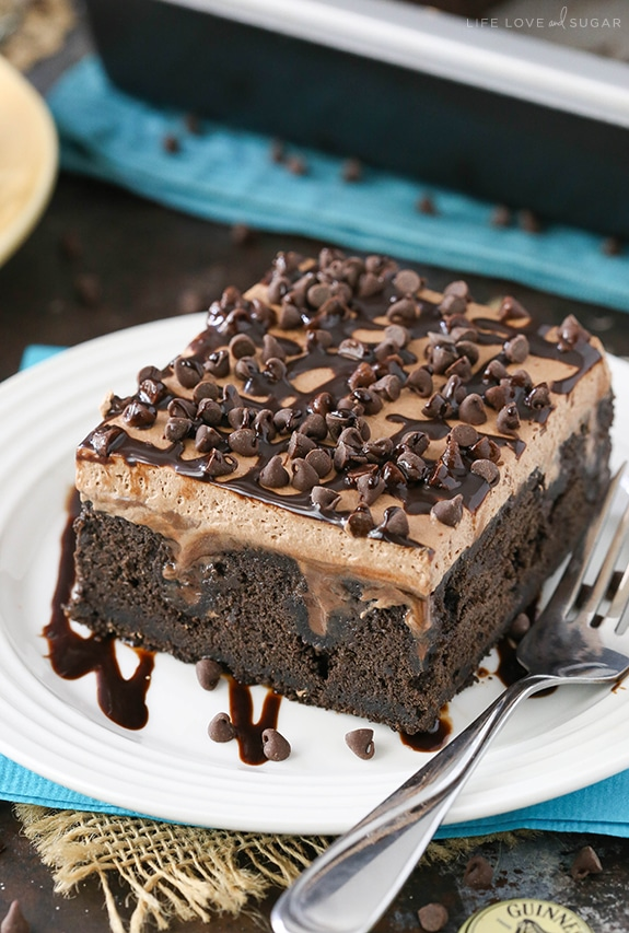 Favorite Chocolate Poke Cake