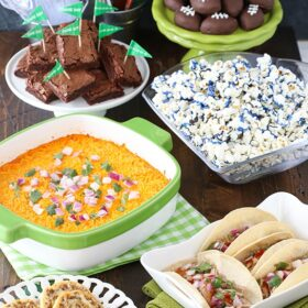 image of food for football party