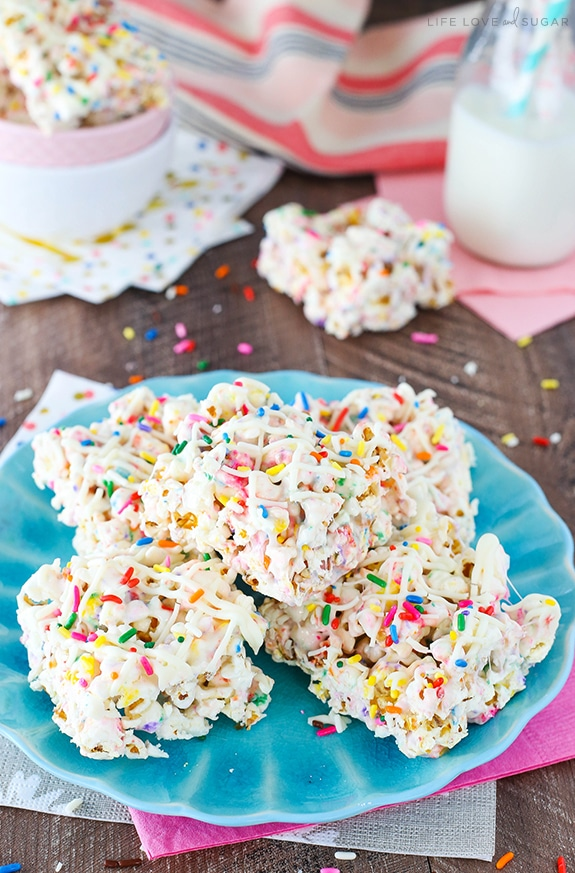 Best Funfetti Marshmallow Popcorn Treats recipe