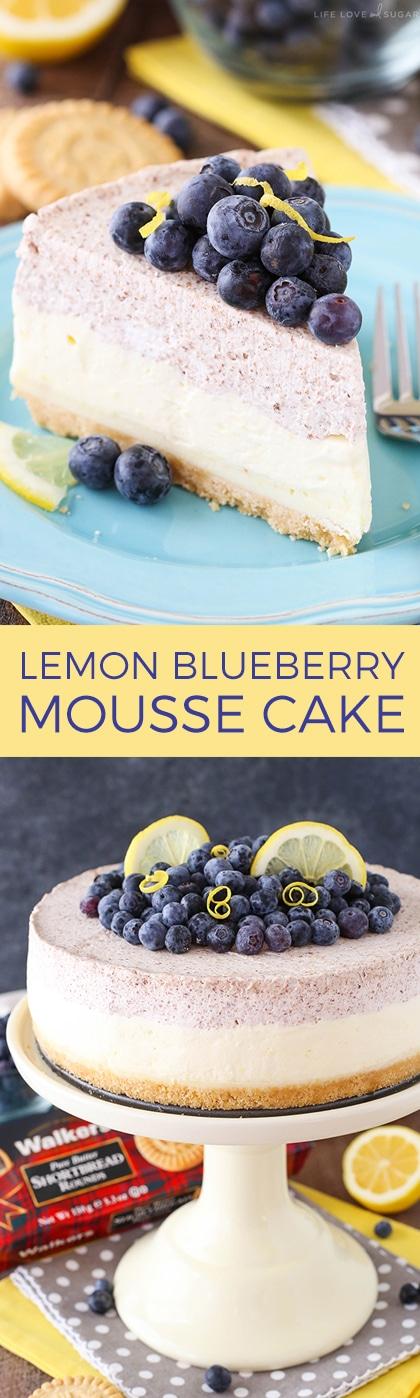 Lemon Blueberry Shortbread Mousse Cake Life Love And Sugar