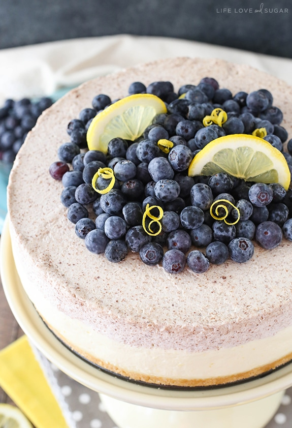 Best Lemon Blueberry Mousse Cake recipe