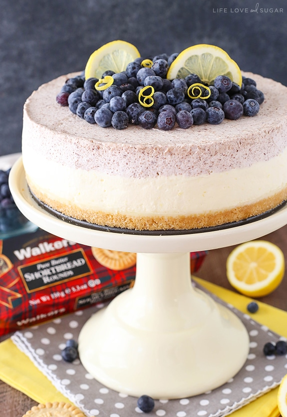 Lemon Blueberry Mousse Cake recipe