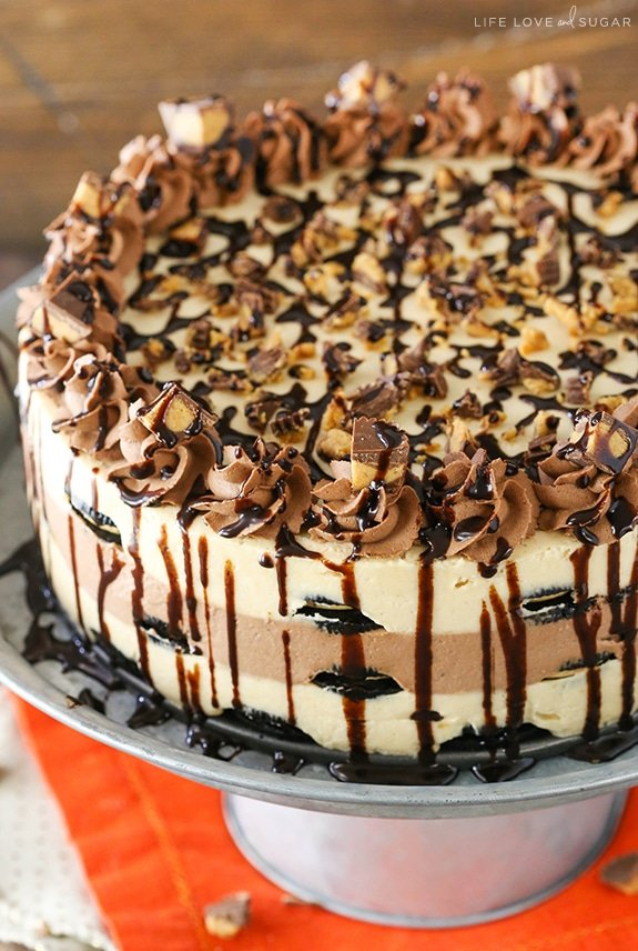 Reese S Peanut Butter Chocolate Mousse Cake