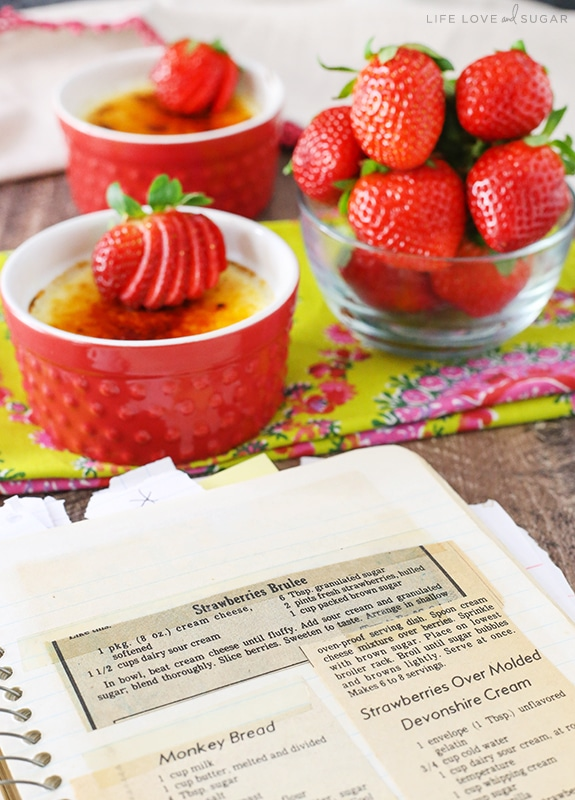 Image of Strawberries Brûlée recipe