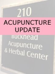 image of acupuncture sign