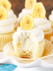 image of inside of Banana Cream Pie Cupcakes