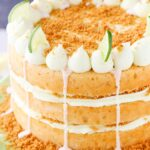 overhead image of Key Lime Pie Layer Cake