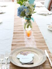 mickey themed place setting
