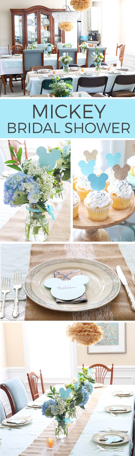 Mickey Bridal Shower - lace, burlap and mickey come together for a fun and sophisticated Disney bridal shower!