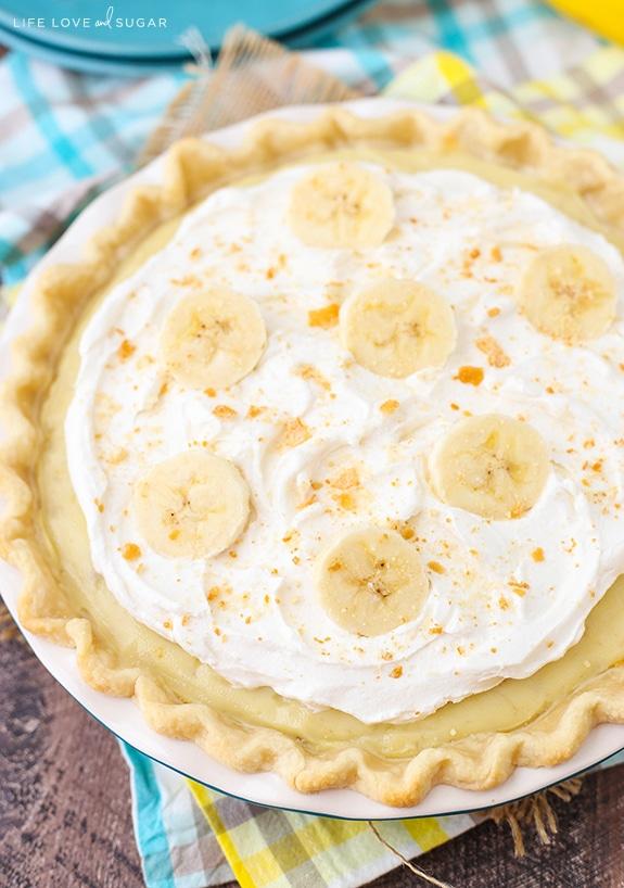 Banana Cream Pie - traditional banana cream pie recipe with a little twist!