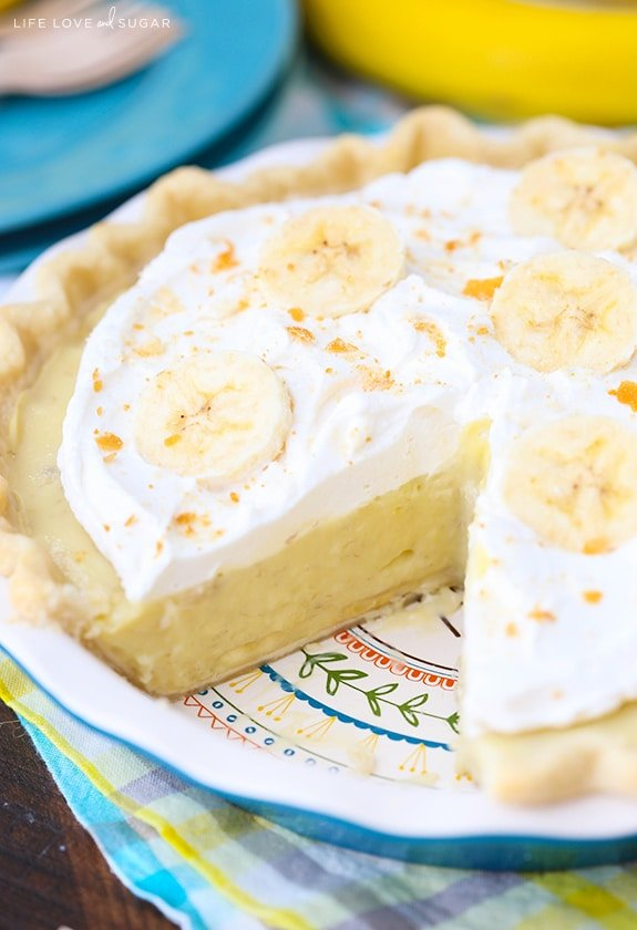 Banana Cream Pie - traditional banana cream pie recipe with a little twist!