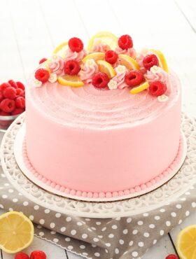 full image of Lemon Raspberry Layer Cake