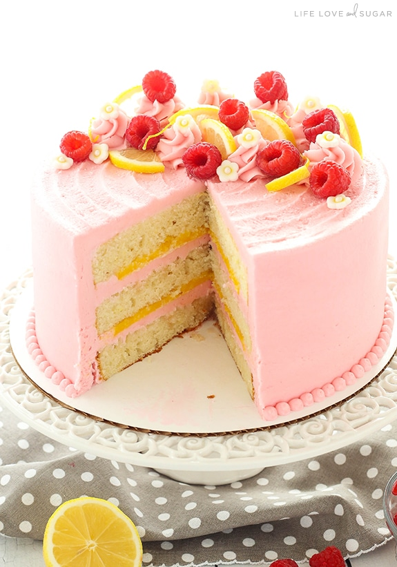 Lemon Cake With Pearls