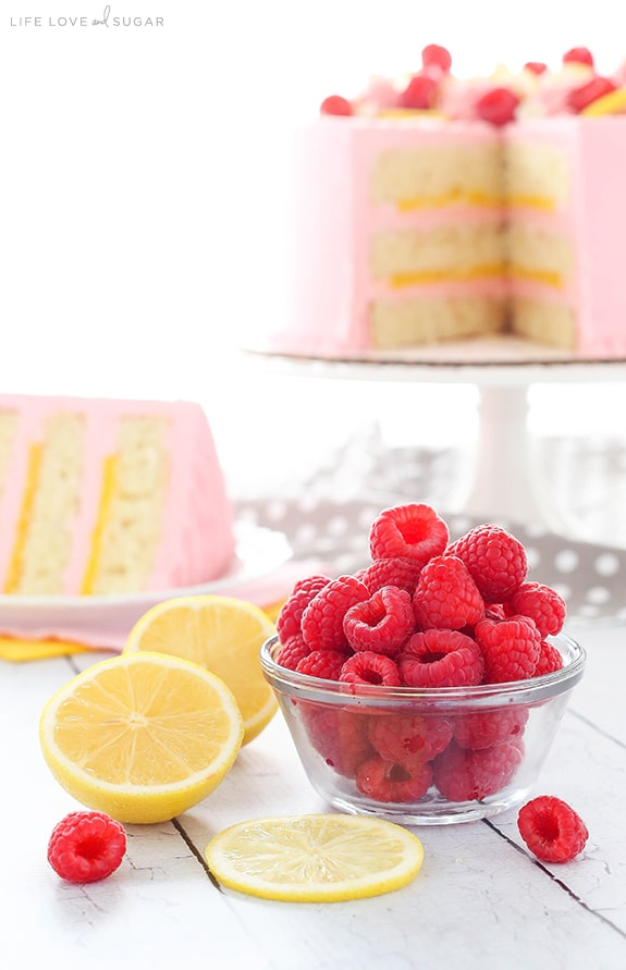 Raspberries and Lemons for Lemon Raspberry Cake