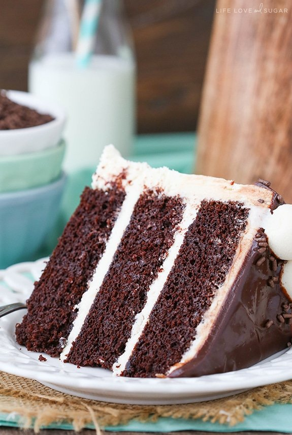 24 Hours Of Lemons >> Baileys Chocolate Layer Cake | Moist Chocolate Cake ...