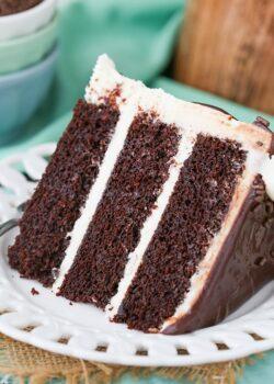 slice of Baileys Chocolate Layer Cake