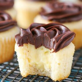 Image of Boston Cream Pie Cupcakes