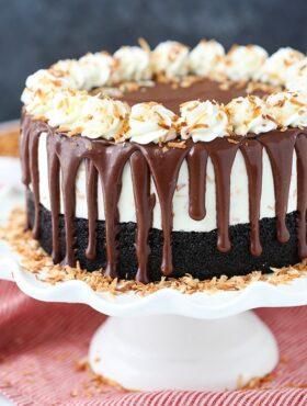full image of Toasted Coconut Chocolate Ice Cream Cake