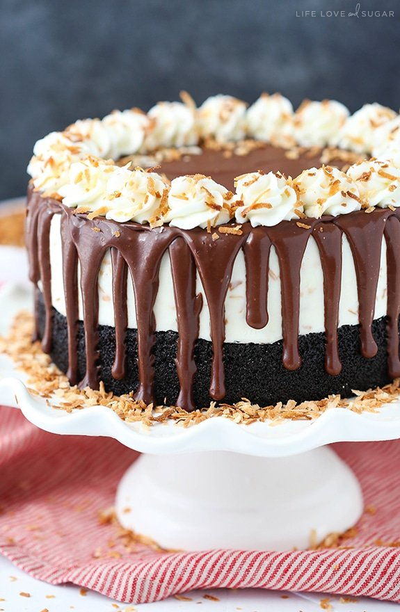 Toasted Coconut Chocolate Ice Cream Cake