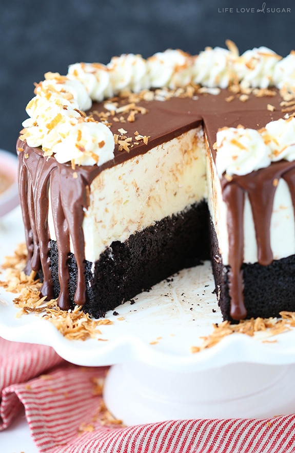 Toasted Coconut Chocolate Ice Cream Cake recipe