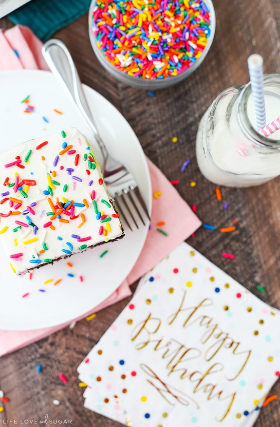 The Ultimate Birthday Cake with sprinkles