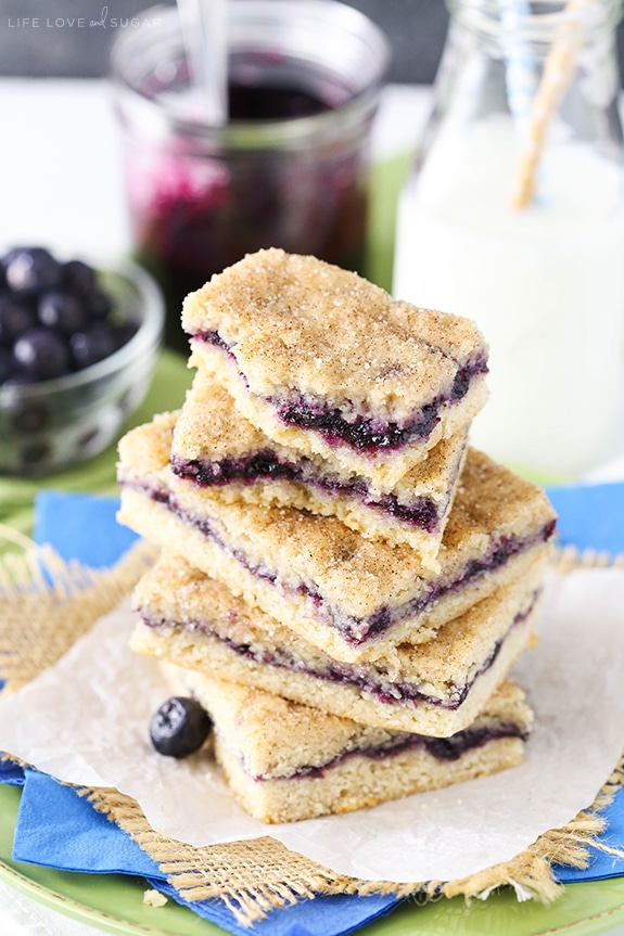 Blueberry Jam Cake Bars - these are amazing! Soft and moist and just like eating cake but in denser bar form! So easy to make!