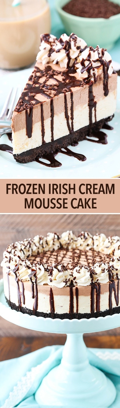 Frozen Irish Cream Mousse Cake - chocolate and Irish cream combine to ...