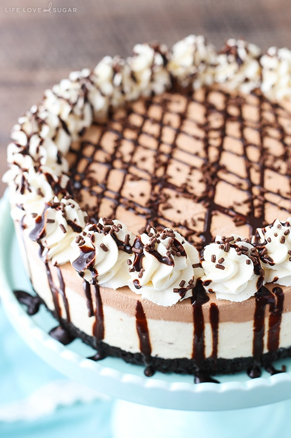 Easy Irish Cream Mousse Cake