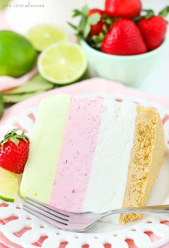 This Key Lime Strawberry Coconut Ice Cream Cake combines three ...