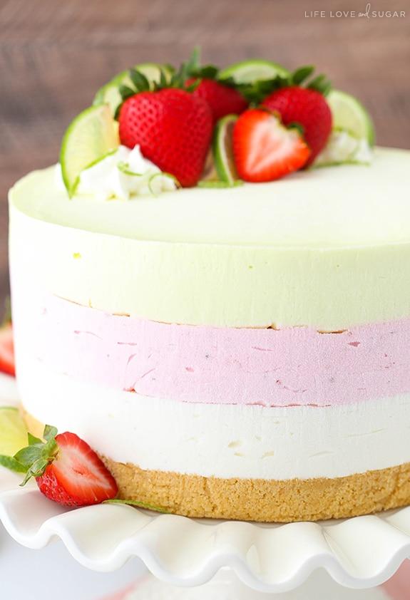 Best Key Lime Strawberry Coconut Ice Cream Cake recipe