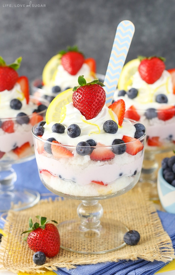 Best Lemon Berry Yogurt Trifles