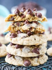 image of stack of Oatmeal Chocolate Chip Cookies