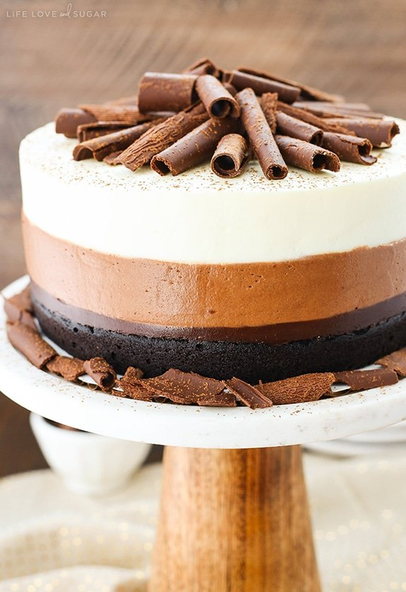Chocolate Cream Cheese Mousse Cake
