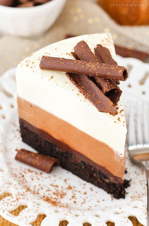 Best Triple Chocolate Mousse Cake