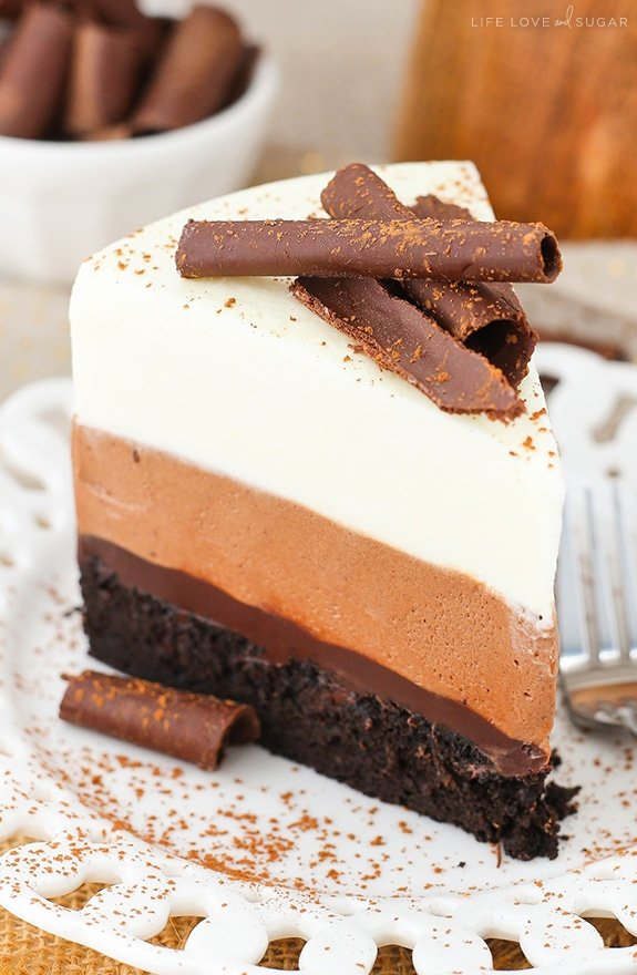 Triple Chocolate Mousse Cake Life Love And Sugar