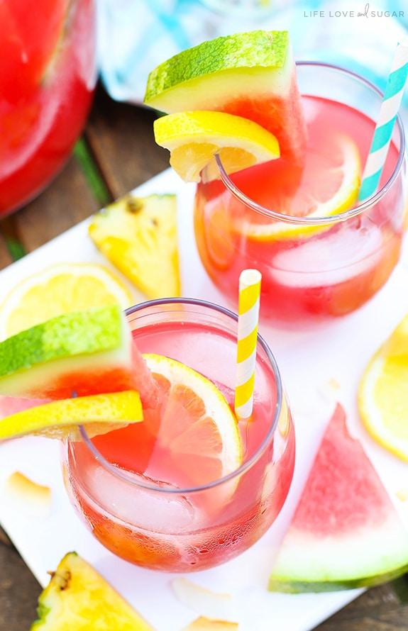 Tropical Watermelon Lemonade Cocktail recipe