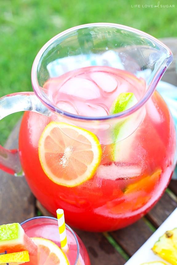 Tropical Watermelon Lemonade Cocktail