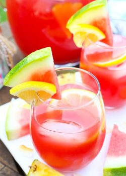 image of Tropical Watermelon Lemonade Cocktail