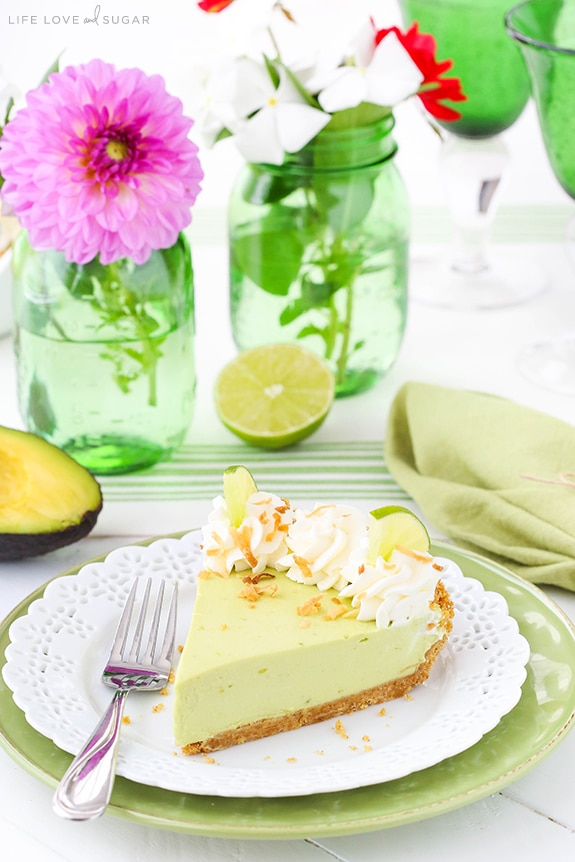 Best Avocado Key Lime Pie