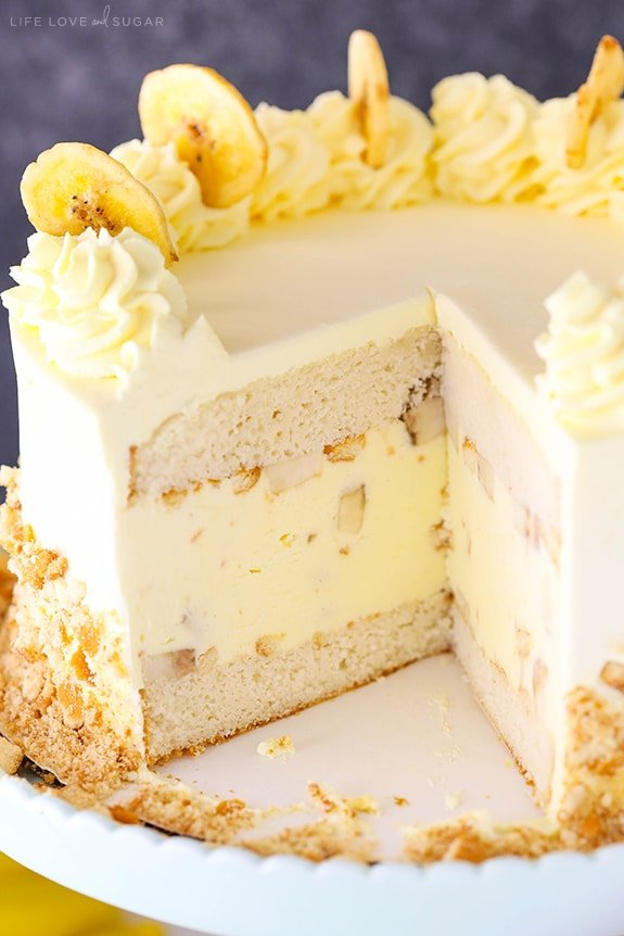 Best Banana Pudding Ice Cream Cake